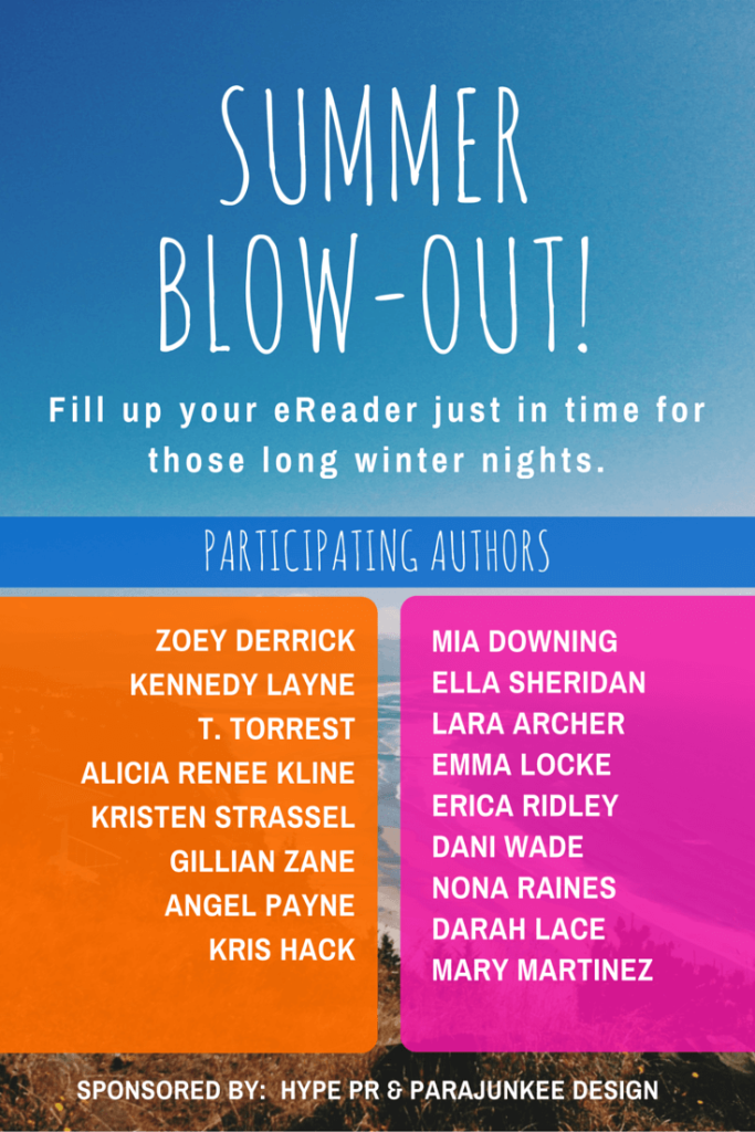 summer blow-out!  participating authors