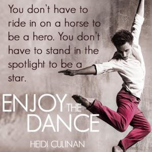 Enjoy the Dance by Heidi Cullinan Teaser Graphic