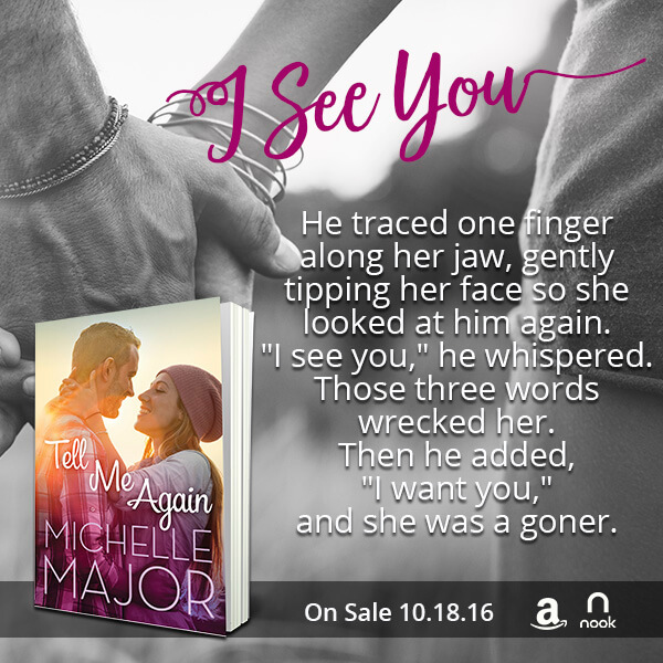 Tell Me Again by Michelle Major Teaser